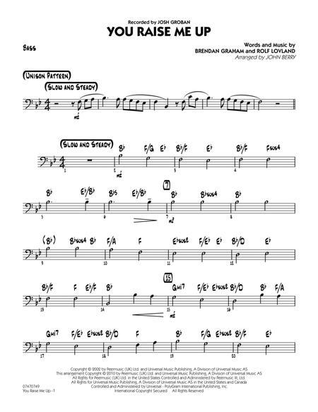 Download You Raise Me Up Bass Sheet Music By Josh Groban Sheet