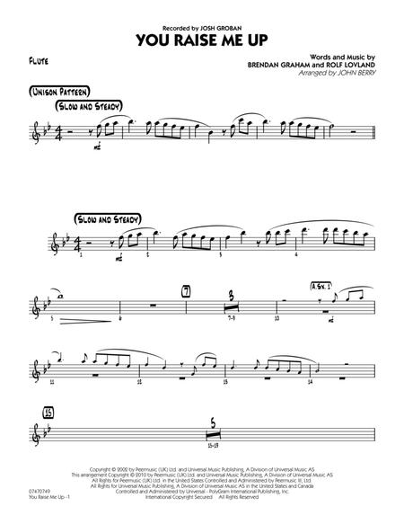 Download You Raise Me Up Flute Sheet Music By John Berry Sheet