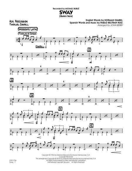 Sway (Quien Sera) - Aux Percussion