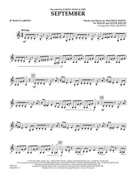 September - Bb Bass Clarinet