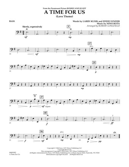 A Time For Us (Love Theme) - Bass