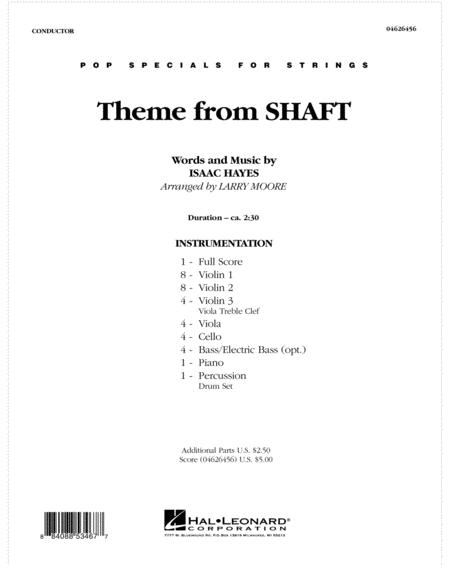 Theme from Shaft - Full Score