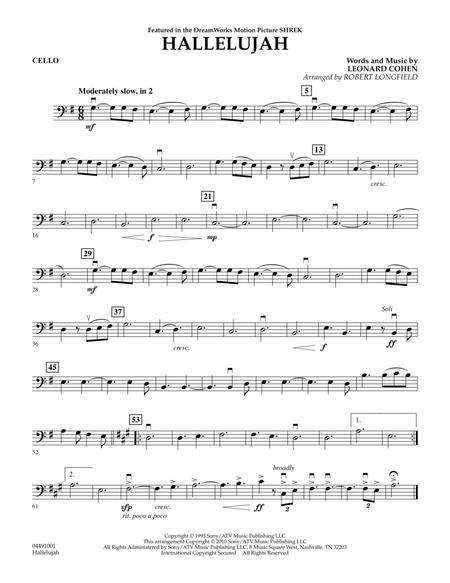 Download Hallelujah - Cello Sheet Music By Leonard Cohen - Sheet ...