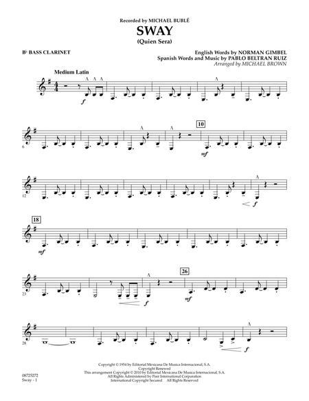 Sway (Quien Sera) - Bb Bass Clarinet