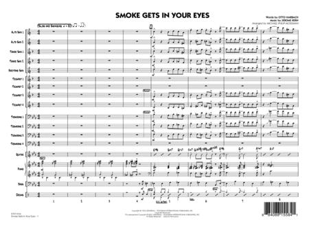 Smoke Gets In Your Eyes - Conductor Score (Full Score)