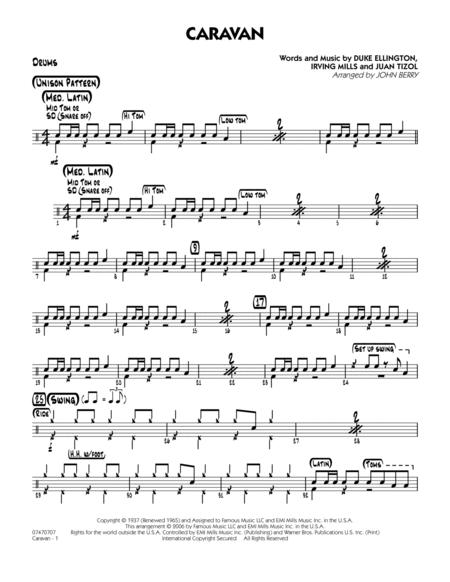 Download Caravan - Drums Sheet Music By John Berry - Sheet Music Plus