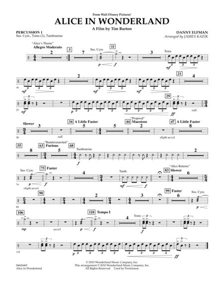 Alice In Wonderland - Percussion 1