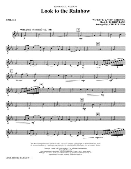 Look To The Rainbow (from Finian's Rainbow) - Violin 2