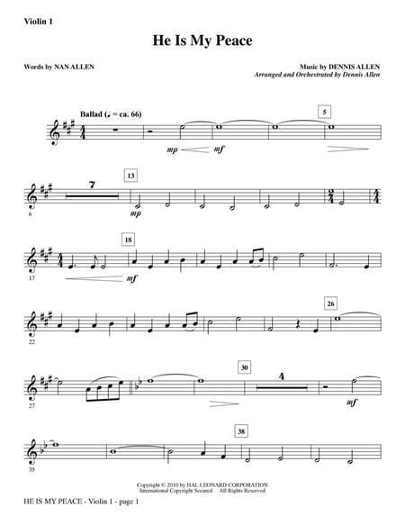 He Is My Peace - Violin 1