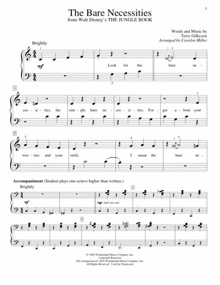 Download The Bare Necessities Sheet Music By Terry Gilkyson Sheet