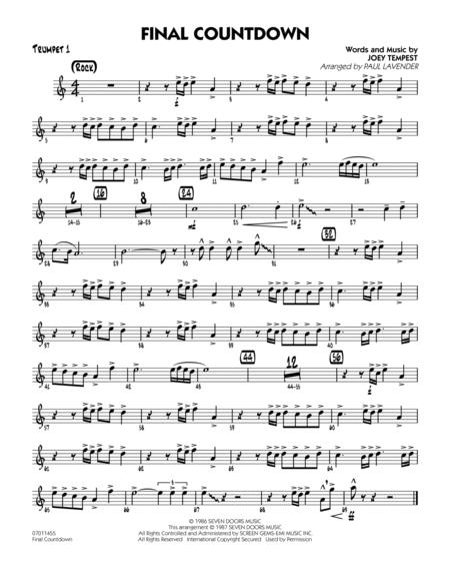 Final Countdown - Trumpet 1