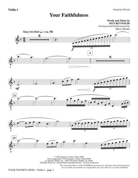 Your Faithfulness - Violin 1