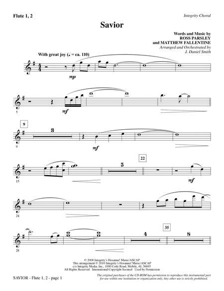 Savior - Flute 1 & 2
