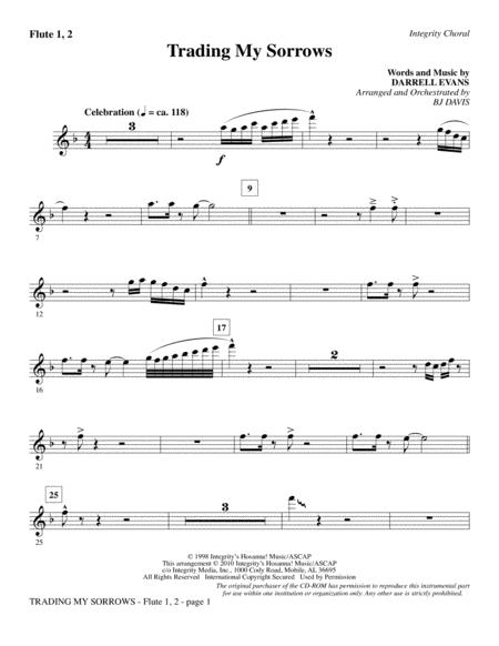 Download Trading My Sorrows - Flute 1 & 2 Sheet Music By Darrell ...