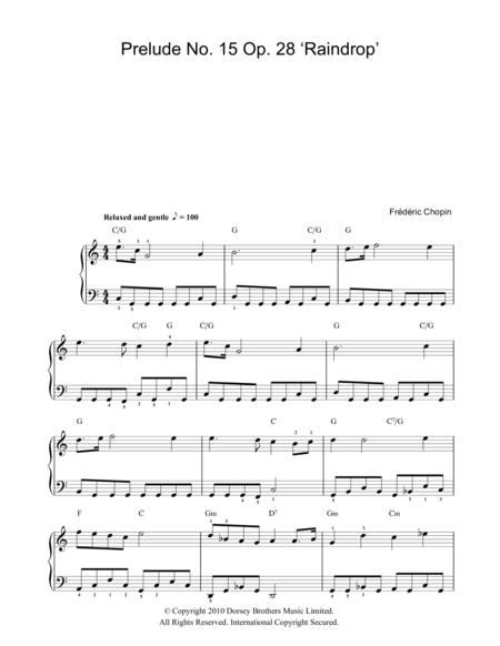 Download Prelude No  15, Op  28 (Raindrop) Sheet Music By