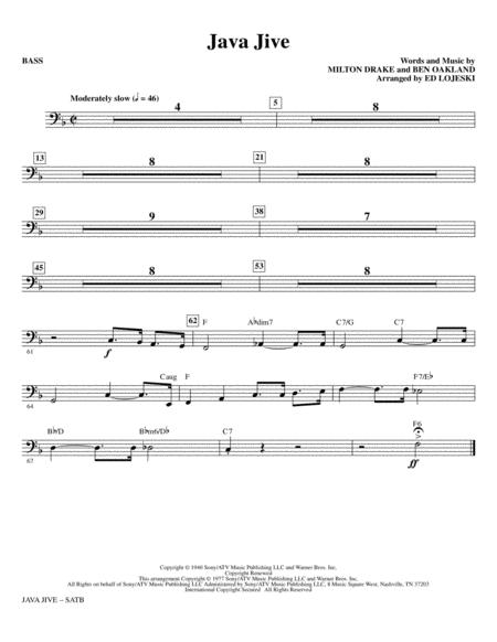Java Jive (SATB Octavo Accompaniment Parts) - Bass