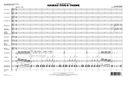 Hawaii Five-O Theme - Full Score
