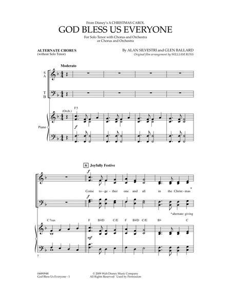 God Bless Us Everyone - Alternate Chorus