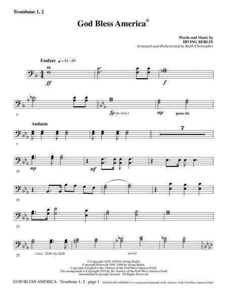 God Bless America - Trombone 1 & 2