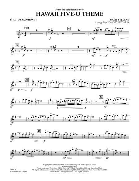Hawaii Five-O Theme - Eb Alto Saxophone 1