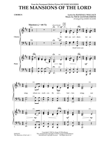 The Mansions Of The Lord (from We Were Soldiers) - Chorus