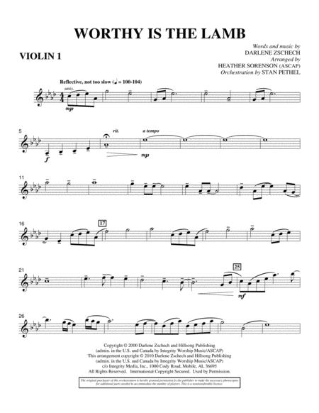 Download Worthy Is The Lamb - Violin 1 Sheet Music By Darlene ...
