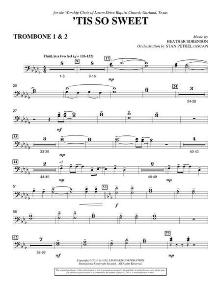 'Tis So Sweet - Trombone 1 & 2