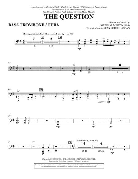 The Question - Bass Trombone/Tuba