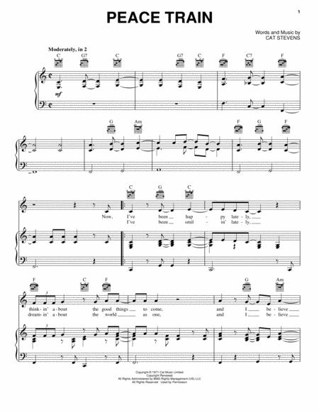 Download Peace Train Sheet Music By Cat Stevens - Sheet Music Plus