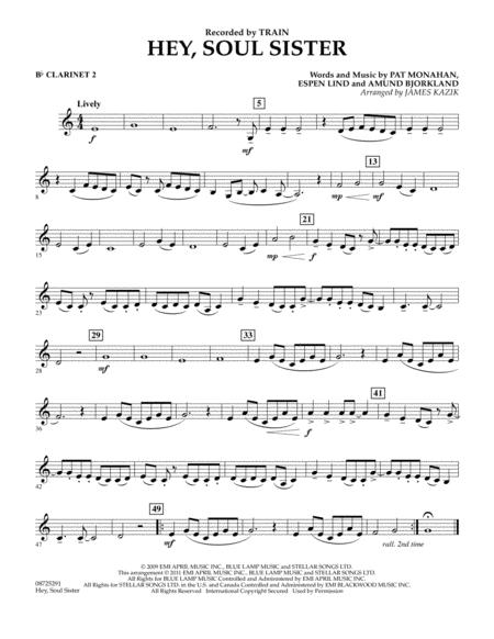 Download Hey Soul Sister Bb Clarinet 2 Sheet Music By Train