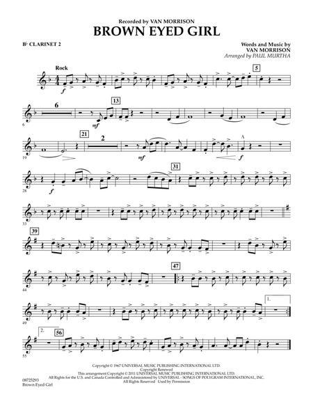 Brown Eyed Girl - Bb Clarinet 2