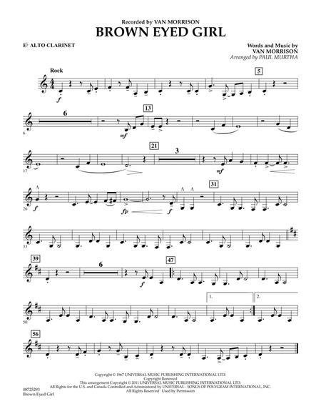 Brown Eyed Girl - Eb Alto Clarinet