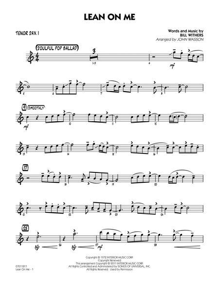 Lean On Me - Tenor Sax 1