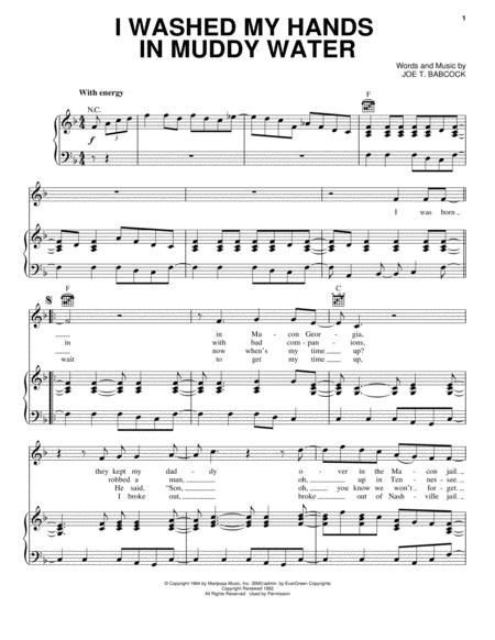 Download I Washed My Hands In Muddy Water Sheet Music By Elvis ...