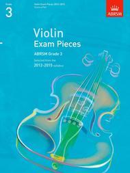 Selected Violin Exam Pieces Grade 3, 2012-15