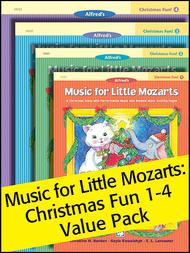 Music for Little Mozarts Christmas Fun! Books 1-4 (Value Pack)