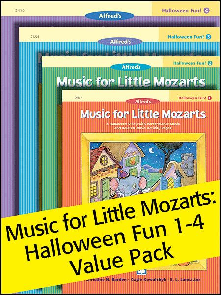 Music for Little Mozarts Halloween Fun! 1-4 (Value Pack)