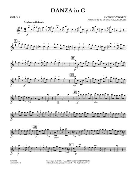 Danza In G - Violin 1