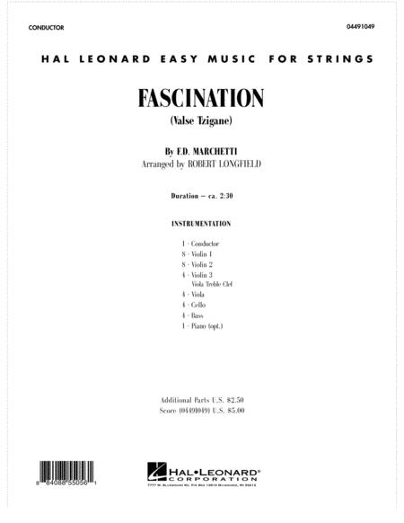Fascination (Valse Tzigane) - Full Score