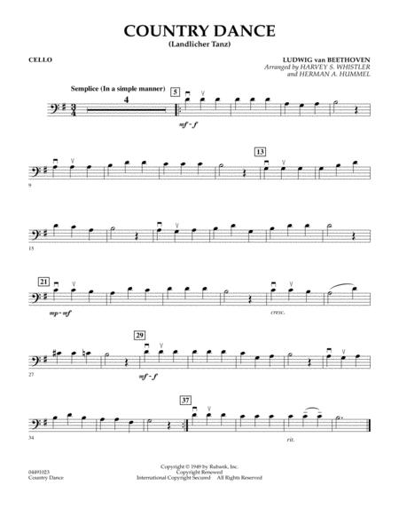 Country Dance (Landlicher Tanz) - Cello