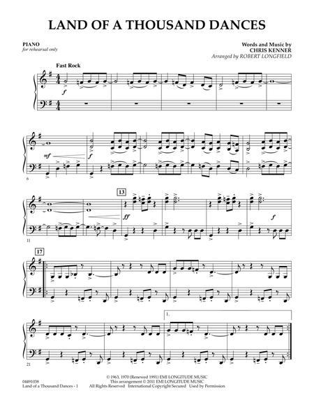 Land Of A Thousand Dances - Piano