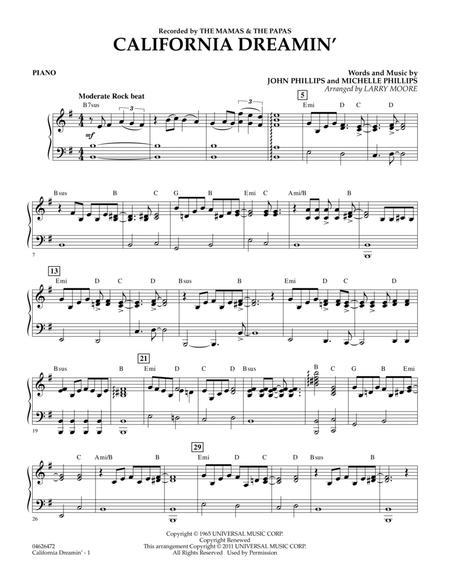 California Dreamin' - Piano