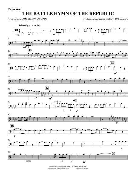 Battle Hymn Of The Republic - Trombone