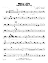Menuetto (from Symphony Concertante) - Cello