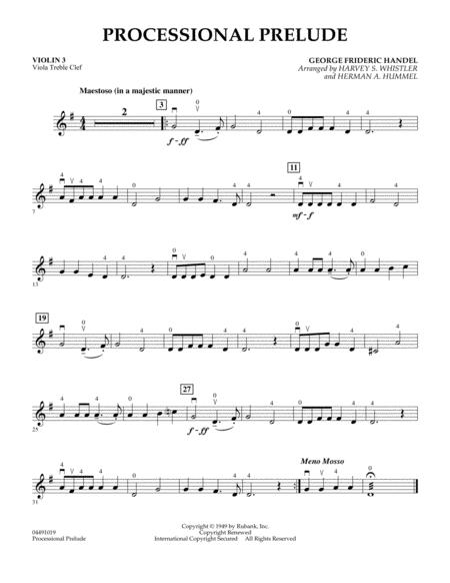 Processional Prelude - Violin 3 (Viola Treble Clef)