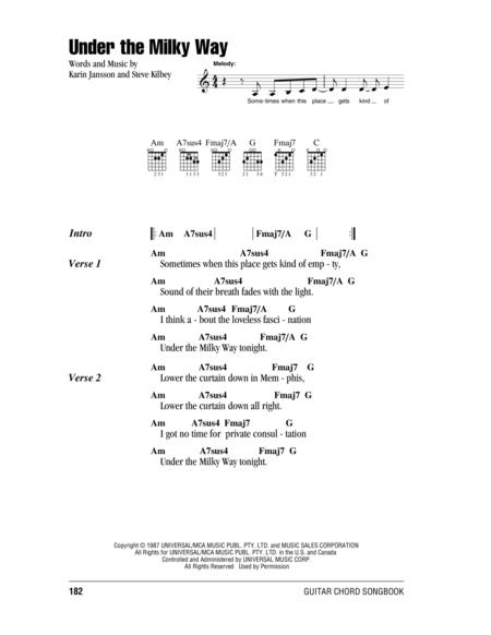 Download Under The Milky Way Sheet Music By The Church - Sheet Music ...