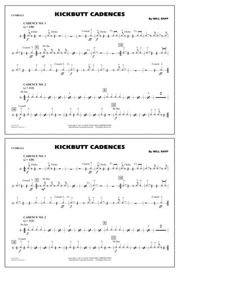 Kickbutt Cadences - Cymbals