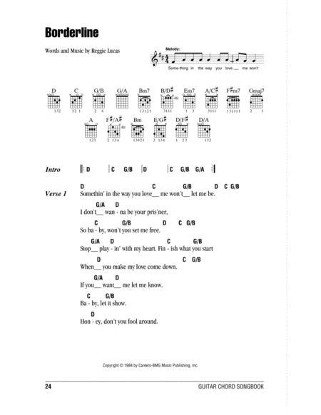 Download Borderline Sheet Music By Reggie Lucas - Sheet Music Plus