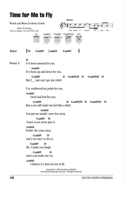 Download Time For Me To Fly Sheet Music By REO Speedwagon - Sheet ...