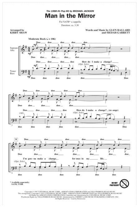 Man In The Mirror (arr. Kirby Shaw)